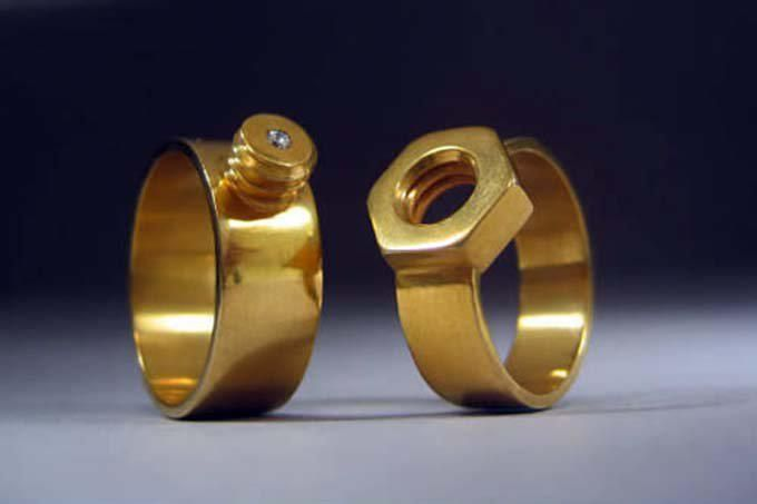 Crazy cool wedding rings