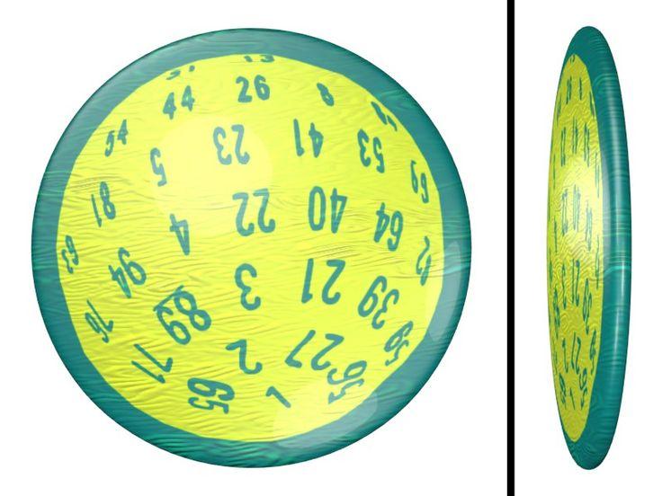 D100 Dice Pearl Coin / #SVGA