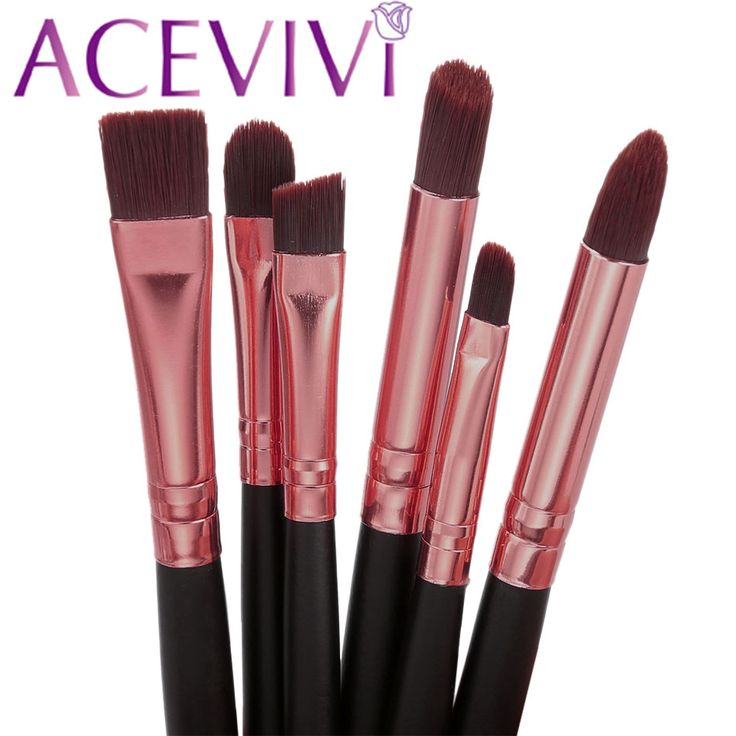 Marka premium 6 acevivi szt oczu makijaż pędzle zestaw szczotki nylonowe włosy oczy cień contour mieszanie makeup tools kit