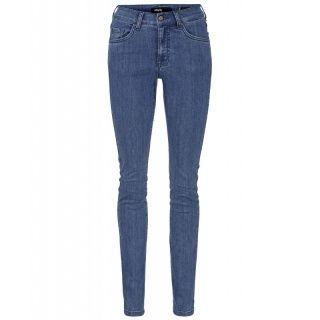 Gerade geschnittene Jeans in schmaler Passform. Dabei garantiert die elastische Material-Qualität einen optimalen Sitz. Musterung/Druck: uni Leibhöhenbezeichnung: Mittel Verschlussart: Knopf mit Reißverschluss Vordertaschen: 2 Eingrifftaschen und 1 Münztasche Gesäßtaschen: 2 Taschen Material: 93% Baumwolle, 5% Polyester, 2% Elasthan.