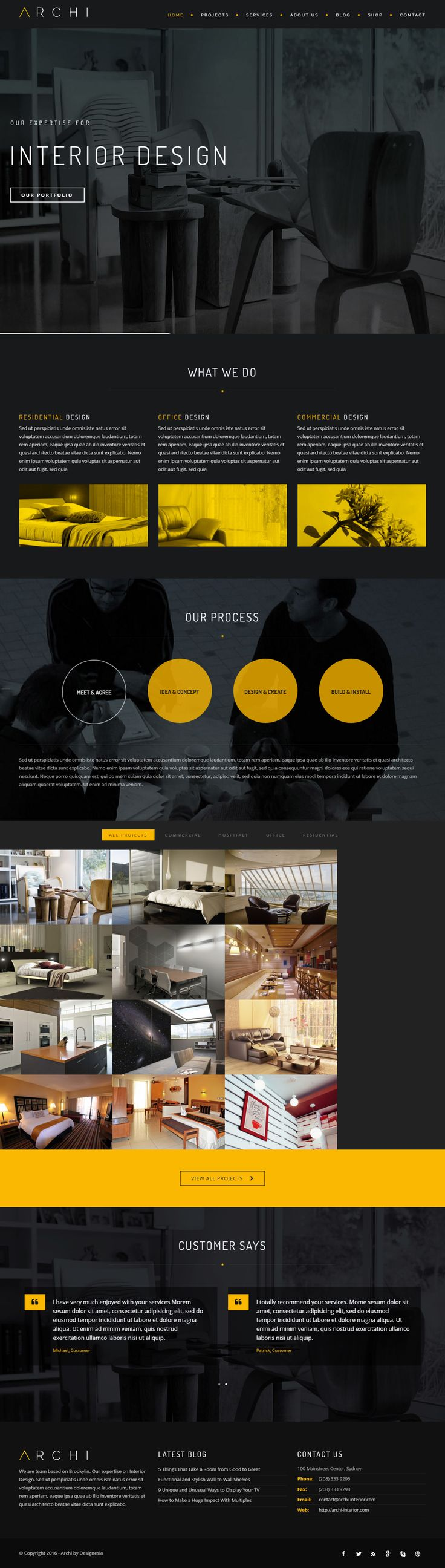 Archi is Premium Responsive Retina Parallax #Drupal #InteriorDesign Theme. If you like this #OnePage Theme visit our handpicked list of best interior design website templates at: http://www.responsivemiracle.com/best-drupal-interior-design-theme/