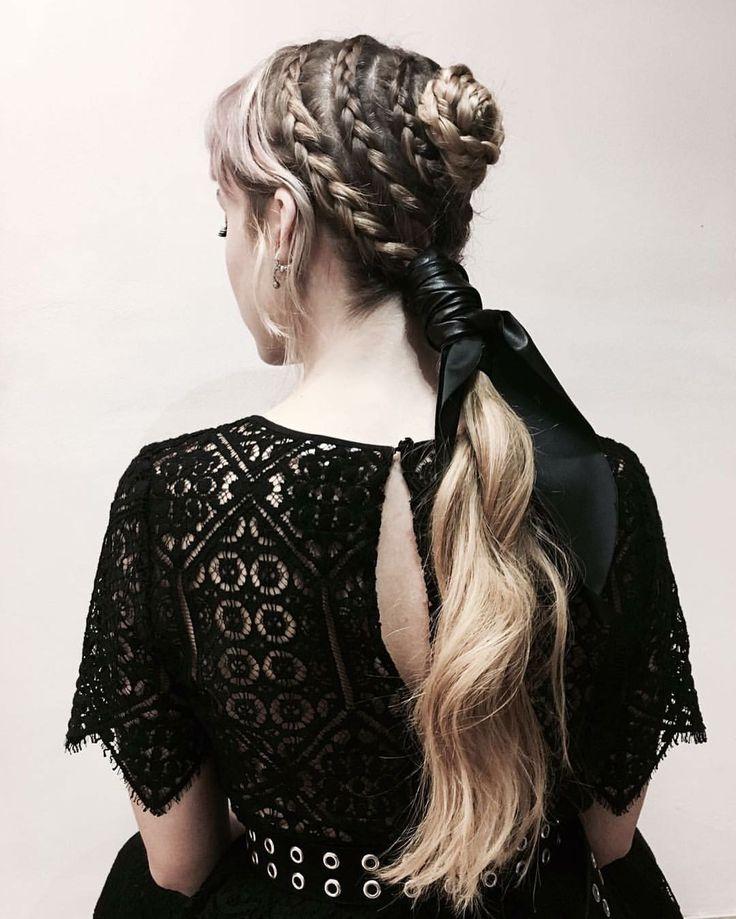 Braid Art!!! Salon Work @memo__le  Inspired by @worldmcqueen  #work #braids #art #wave #longhair #ponytail #couture #hairstyle #hair #handmade #artist
