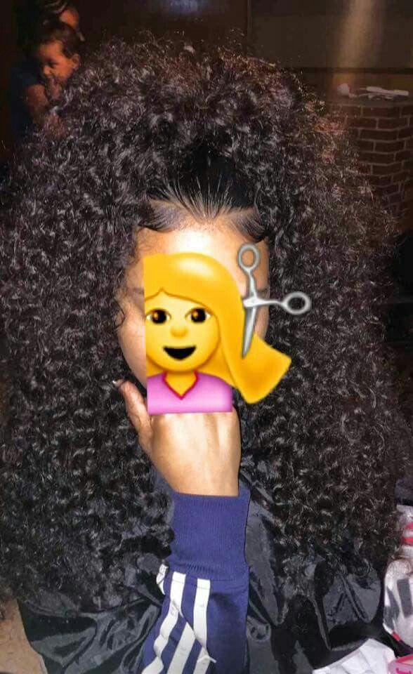 Super high curly big ponytail                                                                                                                                                                                 More