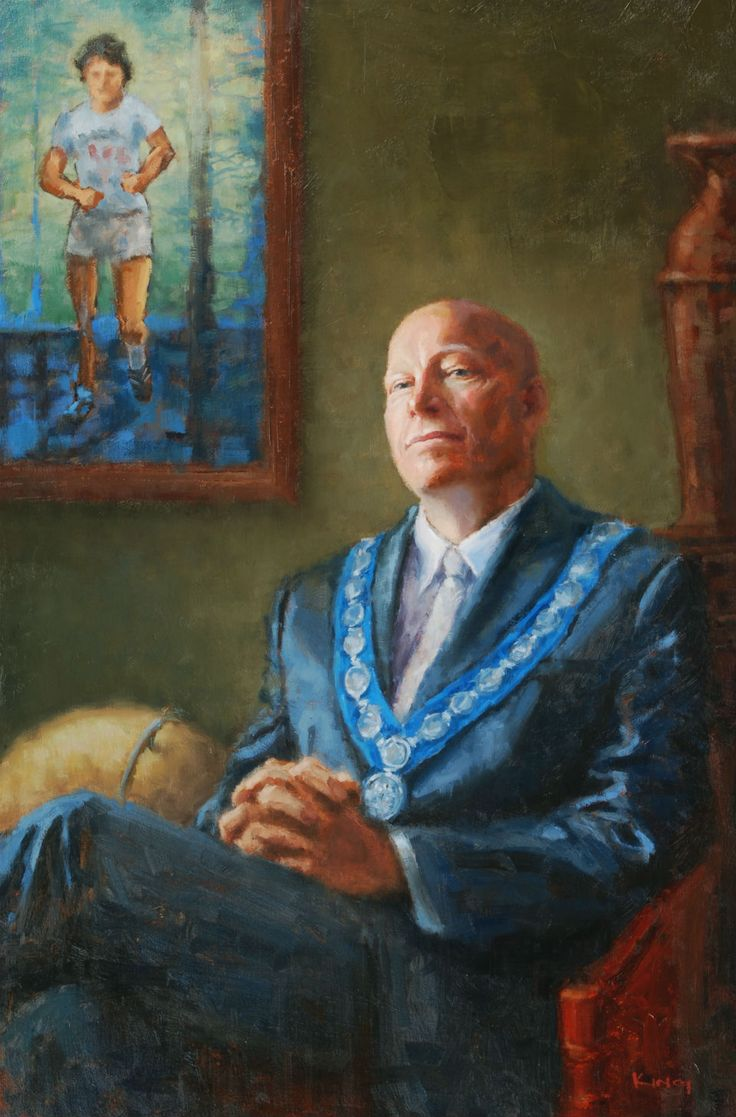 Michael King, painting commissions mayor of port coquitlam