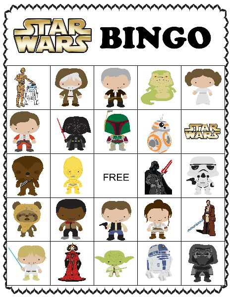 "Star Wars activity pack.  Bingo, dinner with menu, and match game.  Free printables for ""may the fourth be with you"" day."