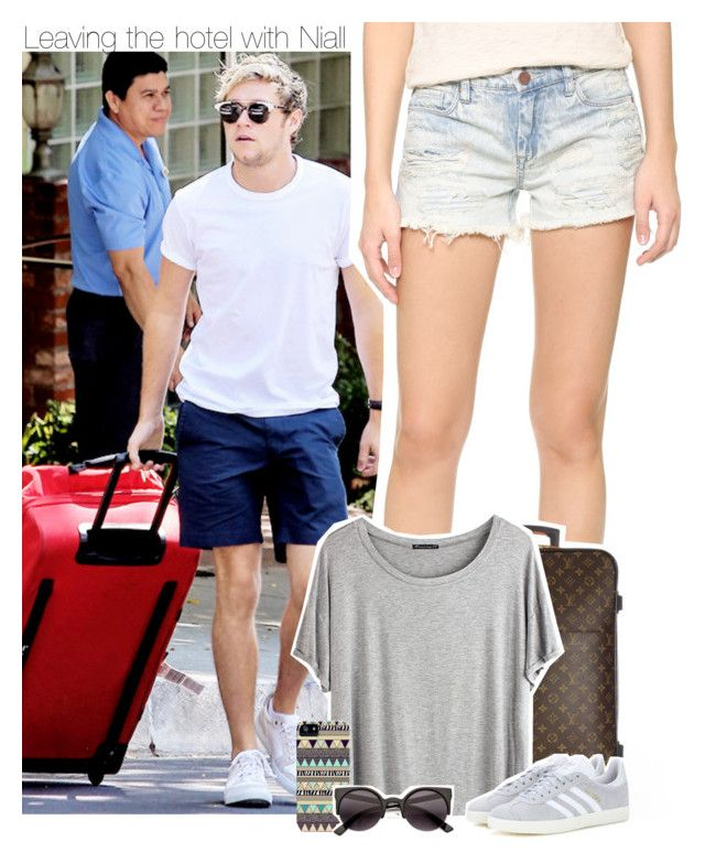 Leaving the hotel with Niall by xcuteniallx on Polyvore featuring polyvore fashion style Chicnova Fashion Blank Denim adidas Originals Louis Vuitton clothing