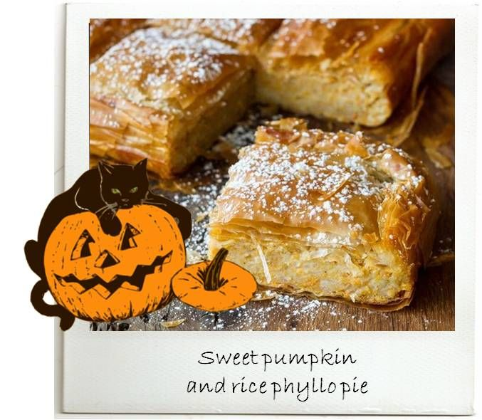 Amazing #sweet #pumpkin & rice #pie to make with the leftovers of the #Halloween pumpkin! http://agoragreekdelicacies.co.uk/greek-recipes/4590645102