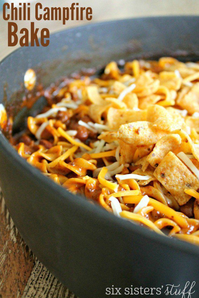 Because it's not a true camping experience without some chili, try this Chili Campfire Bake.