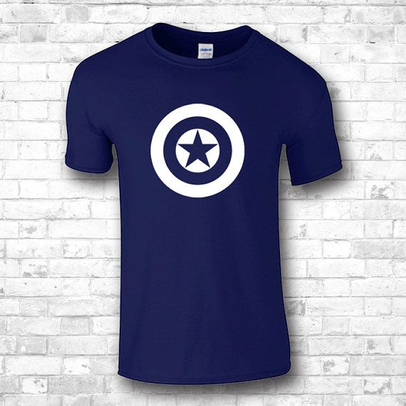 Captain America t shirts logo  boyfriend by FourSeasonsTshirt