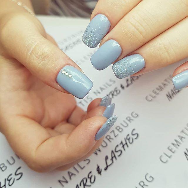 [New]  Die 10 besten Nagelideen von heute (mit Bildern) – Graue Nägel … – Nagelideen – #fits #gray #Ideas #Nail #nails