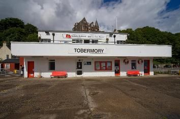 Caledonian Macbrayne art deco ferry terminal, Tobermory, Isle of Mull