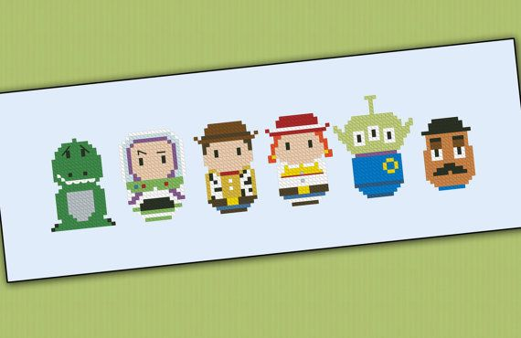 Toy story parody  Cross stitch PDF pattern by cloudsfactory, $5.00