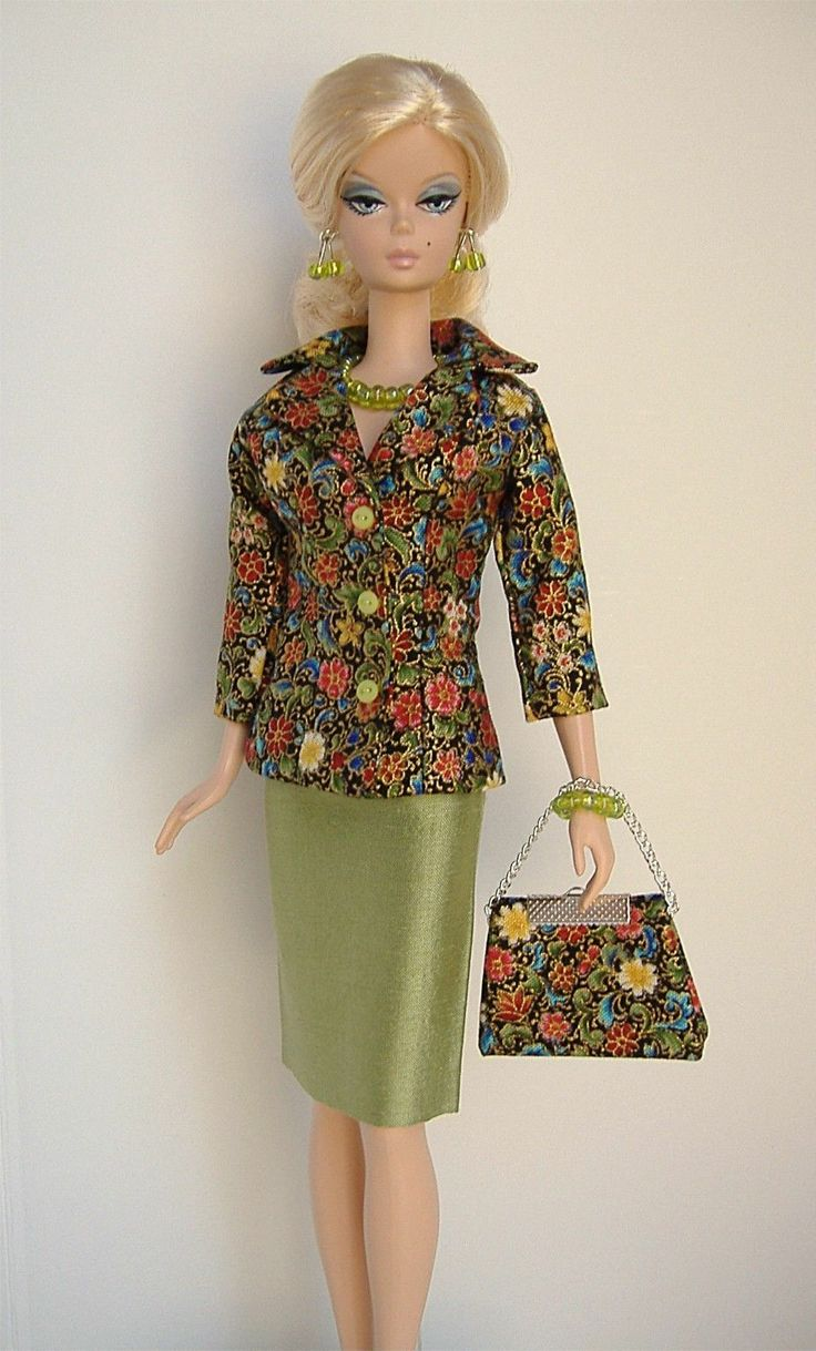 Handmade Suit for Silkstone Fashion Model Barbie Little Garments | eBay