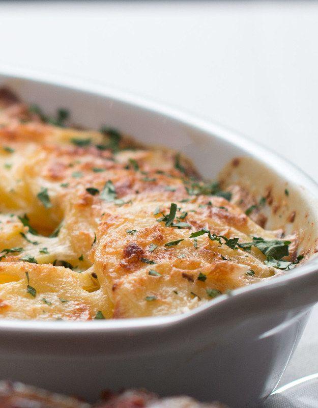 Creamy potato gratin   今夜はワインで乾杯。2人のためのステーキディナー