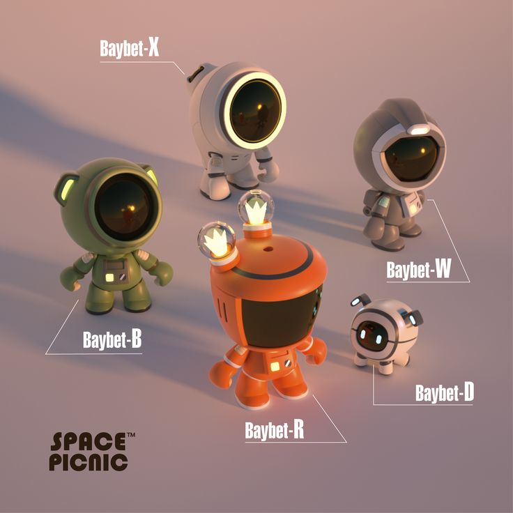 Space Picnic On Behance Art Toys Design Toy Sculpture