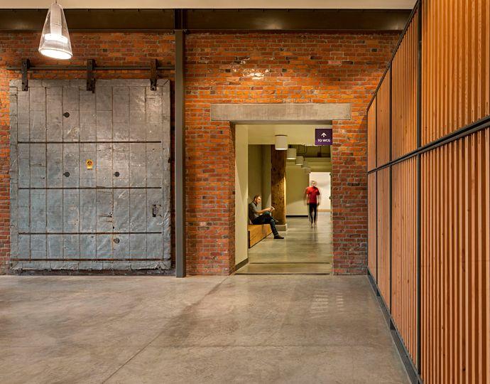 Amazing Door, Love The Brick Warehouse Look.