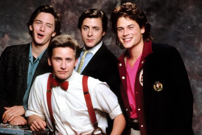 "Andrew McCarthy, Emilio Estevez, Judd Nelson and Rob Lowe (from ""St. Elmo's Fire"" - 1985)"