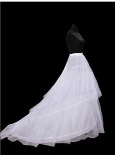 Pretty Long Tailing Gauze Wedding Petticoat