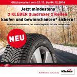 KLEBER-Glückswochen bei ReifenDirekt.de: Wöchentlich ein VW up! und täglich ein iPhone 7 oder iPad mini zu gewinnen