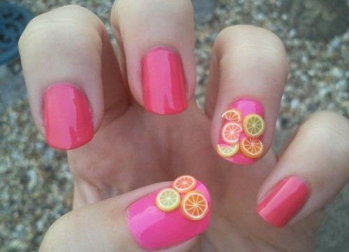 Fruity Fimo Fun For more image visit  http://www.naildesignspro.com/top-nail-art-designs-2014/