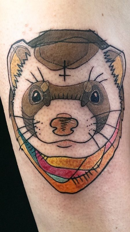 17 Best Ferret Tattoo Designs #ferret #ferrettattoo #cutetattoo