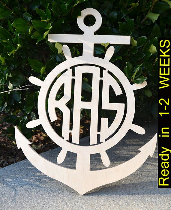 Hey, I found this really awesome Etsy listing at https://www.etsy.com/listing/206178004/anchor-wooden-monogram-3-letter-monogram