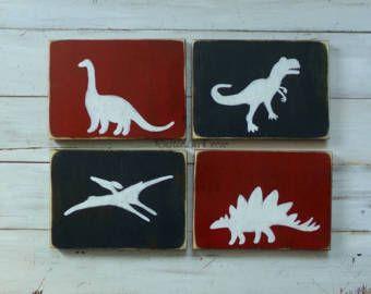 Dinosaur hout teken Tyrannosaurus Rex Decor Kids door RusticLuvDecor