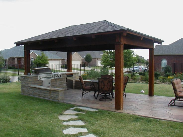 Country Outdoor Kitchen Designs With Granite Countertops For ...