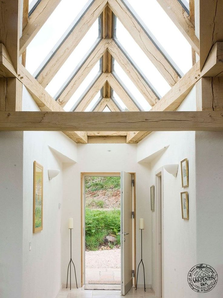 Oak Framed Shard Detail In Green Oak Timber Framed Self Build House In West  Scotland By Part 95