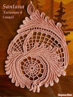 freeform Irish crochet motif