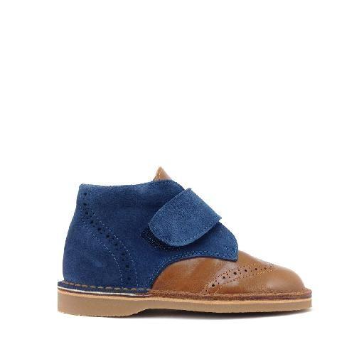 Kinderschoen online Eli bottine Bottine in bruin en blauw