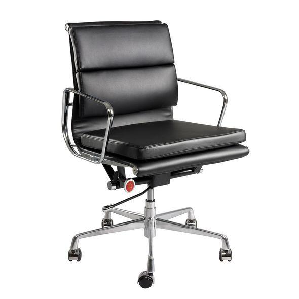 Dante Medium Back Executive Chair black leather