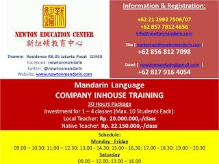 newtonmandarin.com: Latest News: Opening New Mandarin Chinese Company ...