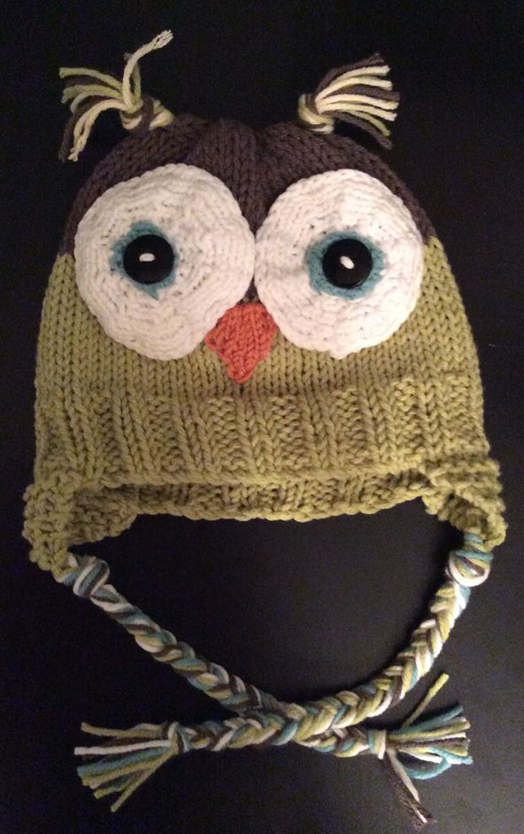 Knitting Pattern Owl Beanie : Owl Baby Hat   Knitting Board Chat Looming Pinterest Knitted baby, Knit...