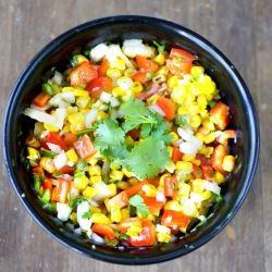 Roasted Corn and Red Pepper Salsa | Chicken etc. (Poultry) | Pinterest