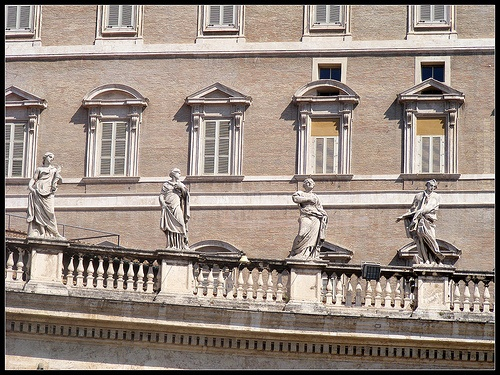 Facade of the Apostolic Palace, the Vatican.