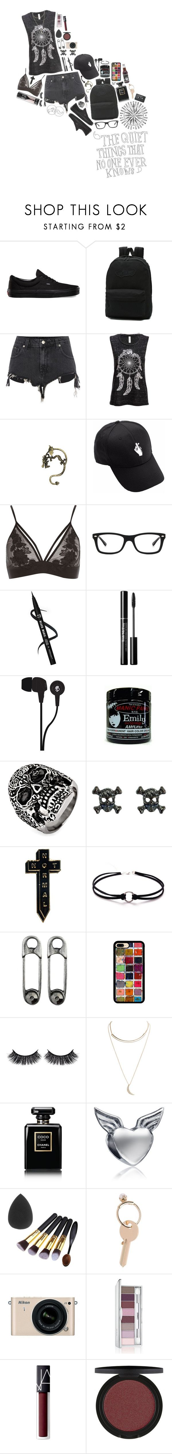 """""""The Quiet Things That No One Ever Knows"""" by k-pop-things-and-such ❤ liked on Polyvore featuring Vans, River Island, Ray-Ban, Skullcandy, West Coast Jewelry, NoHours, Battington, Wet Seal, Chanel and Bling Jewelry"""