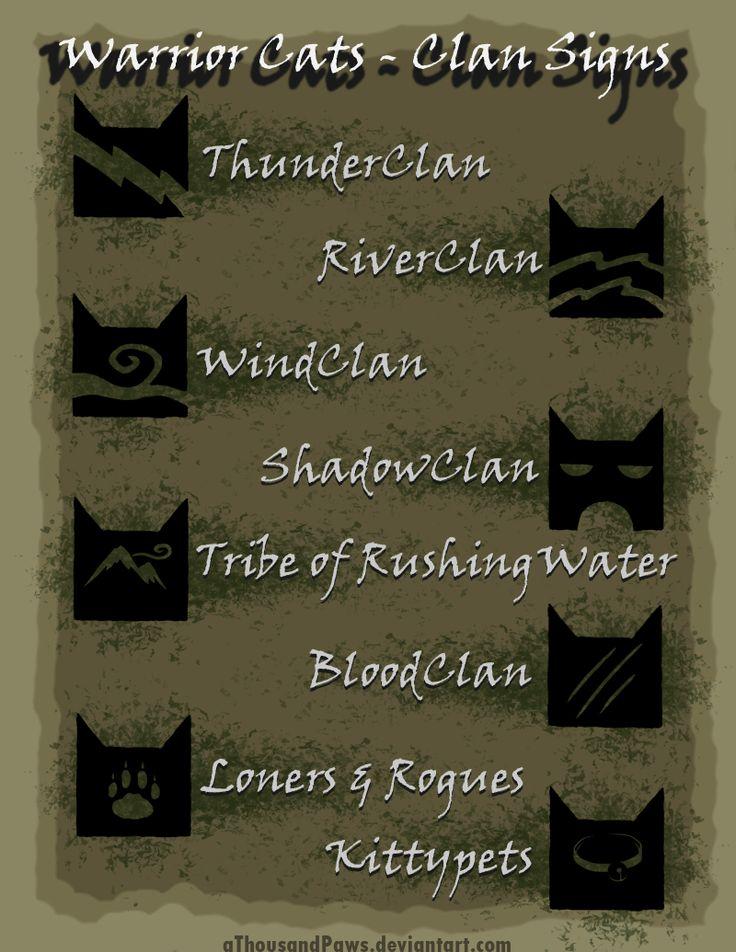 Warrior Cats - The Clans by aThousandPaws.deviantart.com on @deviantART