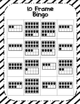 Winter Ten Frames Fun-10 frame bingo, 24 different boards and other ten frame activities
