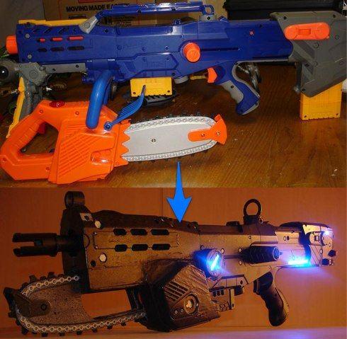 Make Gears of War Lancer from a Nerf Gun