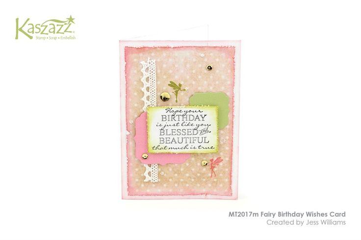 MT2017m Fairy Birthday Wishes Card