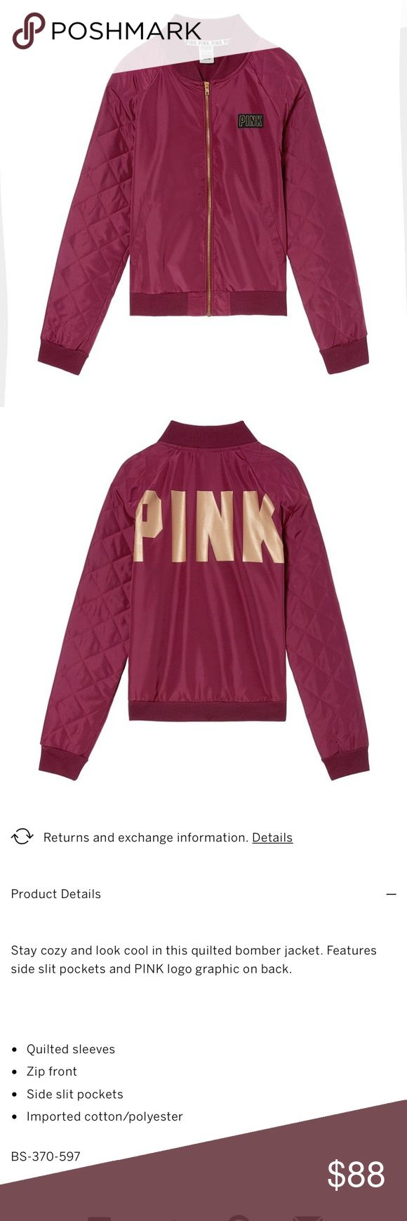 🌟BRAND NEW🌟 PINK LOGO MED BOMBER JACKET Brand New  🛍PRICE IS FINAL🛍 Authentic  No Tags Inside Online Packaging  Fees Included in price  Look at pictures please If you need additional pictures let me know 🚫NO TRADES🚫 🚫No Shipping on the Weekends🚫 Serious Buyers Only  THANK YOU PINK Jackets & Coats