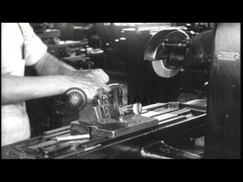 Group of men and women work at Browning Automatic Rifle  factory in the United St...HD Stock Footage - YouTube