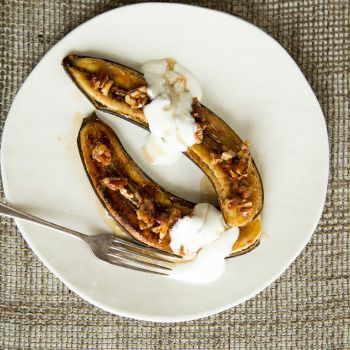 Quick Maple-Grilled Bananas