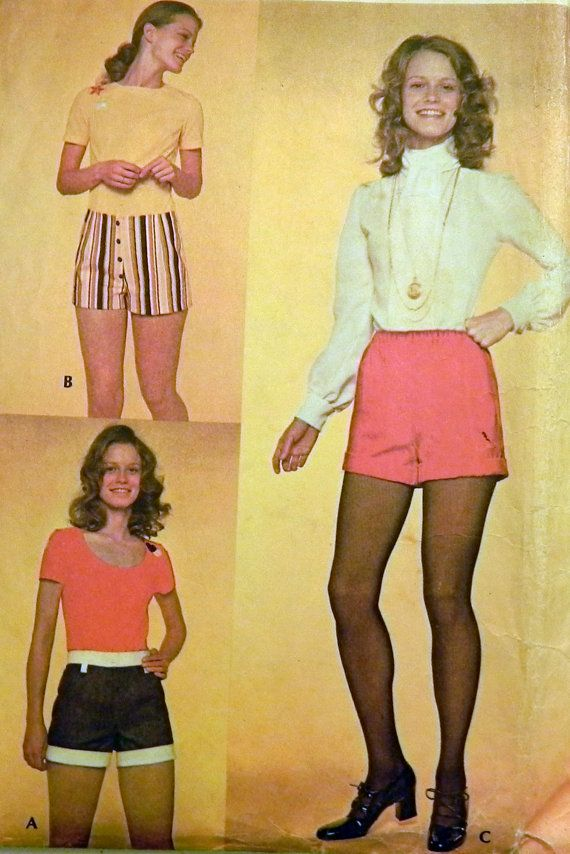1970s Hot pants / Shorts sewing pattern by retroactivefuture, $7.00