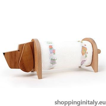 Bracco Dog is a lovely paper towel holder that will hang around with you everywhere at home. #towel #paper #holder #madeinitaly #shoppinginitaly #kitchen  http://www.shoppinginitaly.eu/product/bracco-dog-towel-paper-holder/