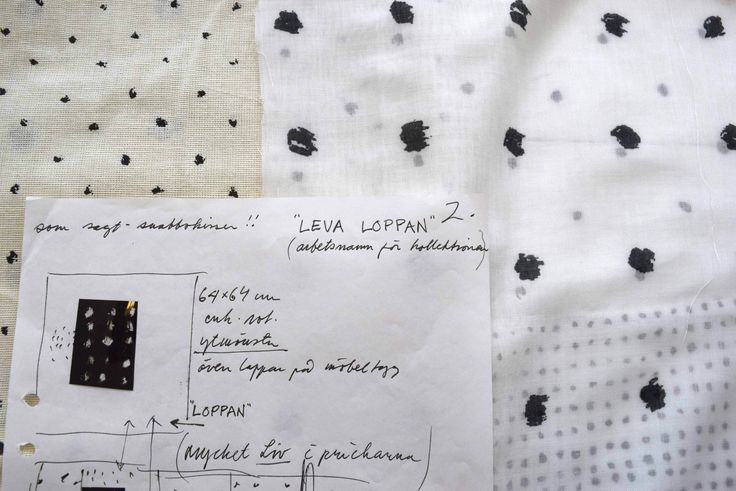 The original sketch of the pattern Noppe and Loppan by Sven Fristedt.