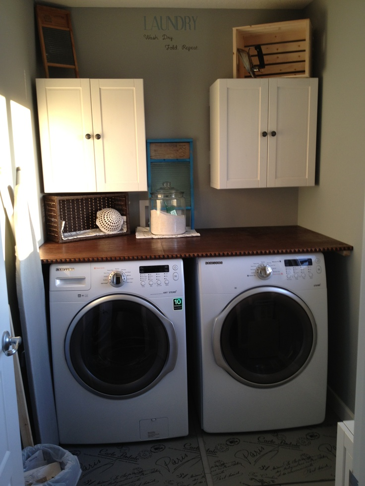 Stained Plywood Countertop In Our Laundry Room For The