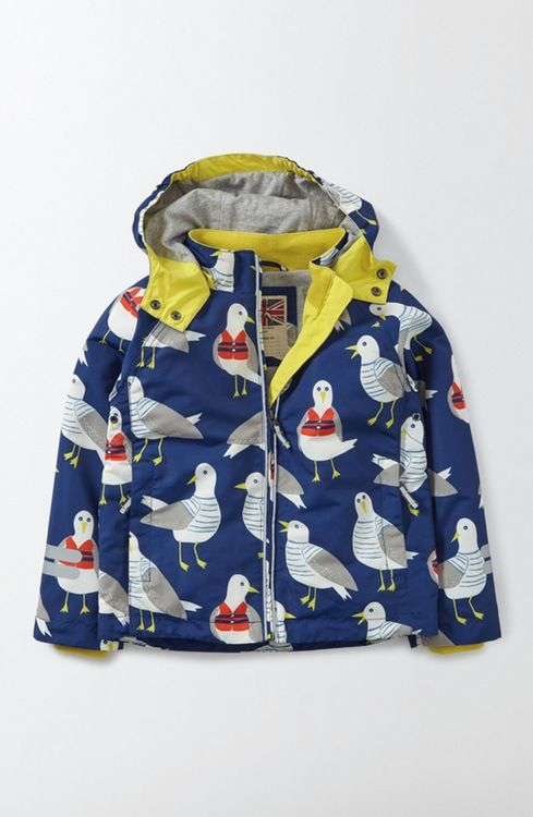 Main Image - Mini Boden Jersey Lined Anorak (Toddler Boys, Little Boys & Big Boys)
