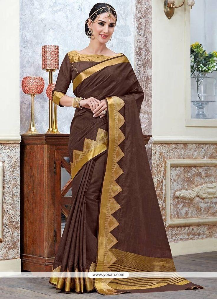 Engrossing Tussar Silk Classic Saree Model: YOSAR8416